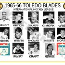 1965-66 TOLEDO BLADES IHL HEADSHOTS TEAM PHOTO