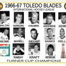 1966-67 TOLEDO BLADES IHL HEADSHOTS TEAM PHOTO