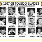 1967-68 TOLEDO BLADES IHL HEADSHOTS TEAM PHOTO