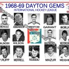 1968-69 DAYTON GEMS IHL HEADSHOTS TEAM PHOTO