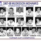 1967-68 MUSKEGON MOHAWKS  IHL HEADSHOTS TEAM PHOTO