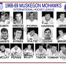 1968-69 MUSKEGON MOHAWKS  IHL HEADSHOTS TEAM PHOTO