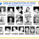 1959-60 EDMONTON FLYERS WHL HEADSHOTS TEAM PHOTO