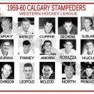 1959-60 CALGARY STAMPEDERS WHL HEADSHOTS TEAM PHOTO