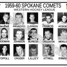 1959-60 SPOKANE COMETS WHL HEADSHOTS TEAM PHOTO