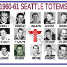 1960-61 SEATTLE TOTEMS WHL HEADSHOTS TEAM PHOTO