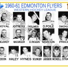 1960-61 EDMONTON FLYERS WHL HEADSHOTS TEAM PHOTO
