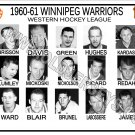 1960-61 WINNIPEG WARRIORS WHL HEADSHOTS TEAM PHOTO