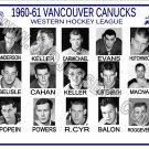 1960-61 VANCOUVER CANUCKS WHL HEADSHOTS TEAM PHOTO