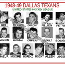 1948-49 DALLAS TEXANS USHL HEADSHOTS TEAM PHOTO