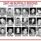 1947-48 BUFFALO BISONS AHL HEADSHOTS TEAM PHOTO