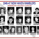1946-47 NEW HAVEN RAMBLERS AHL HEADSHOTS TEAM PHOTO
