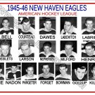 1945-46 NEW HAVEN EAGLES AHL HEADSHOTS TEAM PHOTO
