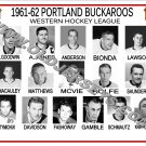 1961-62 PORTLAND BUCKAROOS WHL HEADSHOTS TEAM PHOTO
