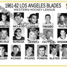 1961-62 LOS ANGELES BLADES WHL HEADSHOTS TEAM PHOTO