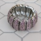 Purple Rhinestone Cuff