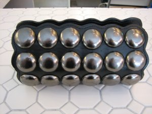 Oversized Gunmetal Stud Clutch