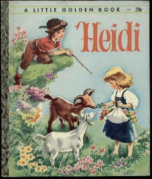 LGB#470  - Heidi , 'G' Printing, Little Golden Book  Illus. by Corinne Malvern