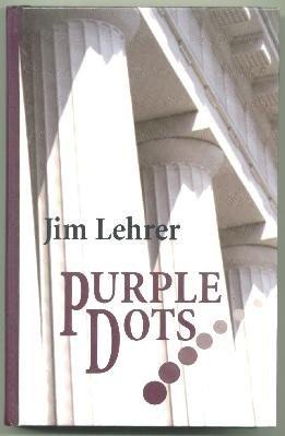 LARGE PRINT SUSPENSE Jim Lehrer - Purple Dots, ExLibr HC