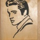 Elvis Presley Portrait - Hand Cut on a Scroll Saw Framed