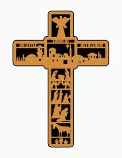 "Christmas - ""LITTLE TOWN OF BETHLEHEM"" cross pattern"