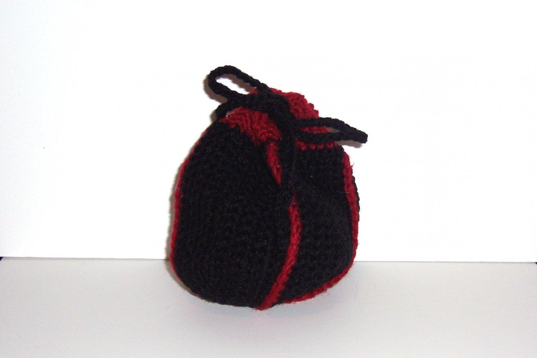 Black & Red Dice Bag ~ Large
