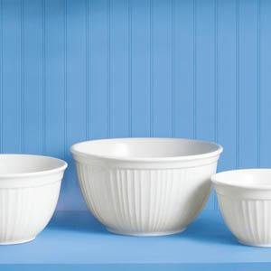 CorningWare French White 3-Pc Bowl Set