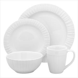 Corningware French White 16-Pc Set, Service for 4