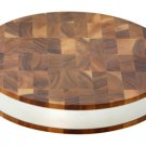 ACACIA END GRAIN STEEL BANDED ROUND