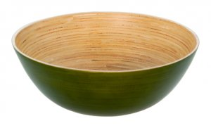 "7"" BAMBOO BOWL GREEN"