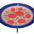 Pink Roses Bowl & Stake