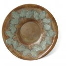 Brass Plate w / Green Leaves 16in. Threaded