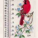 Cardinal/Dogwood Window Thermometer