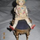 "Antique Bisque Doll - 5 1/2"" Movable Arms & Legs"