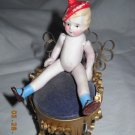 "Antique Bisque Doll - 5"" tall - Movable Arms & Legs"
