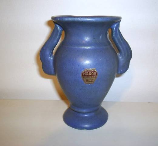 Vintage Niloak Double Wing Handle Urn Vase