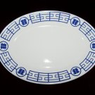 Homer Laughlin Blue Design Resturant Ware Platter