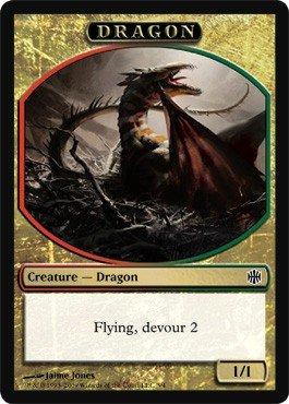 Magic MTG Promo Token Dragon Alara Reborn