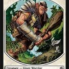 Magic MTG Promo Token Giant Warrior Morningtide