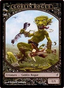 Magic MTG Promo Token Goblin Rogue Lorwyn