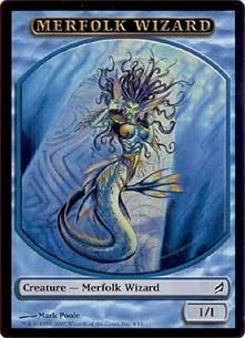 Magic MTG Promo Token Merfolk Wizard Lorwyn