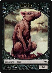 Magic MTG Promo Token Rat Shadowmoor