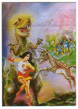 Epoch Saga Of The Ages Promo Foil Card - Art by Esteban Maroto