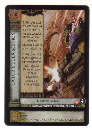 Horus Heresy Sedition's Gate Promo Release Card 2004 - NEW