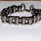 Unisex Bike Motorcycle Heavy Chain Link Bracelet Dark Gray NEW!