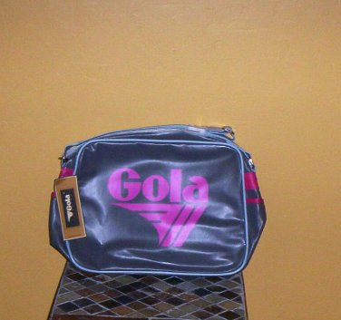 Gola Redford Bag Gym Travel Club Messenger Bag Gray/Fuchsia Unisex New!