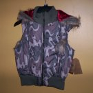Route 66 Quilted Vest Camo Juniors Women Size Large Removable Hood New!