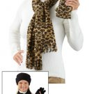 3 Pc. Set Fleece Solid Black Scarf Hat Gloves New!