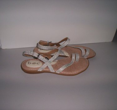 B.O.C. Cushioned Leather Sandals Womens Size 7M Ladies Tan Beige Shoes New!