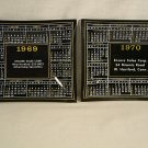 Encore Sales Corp  Pair of Calendar Trays Advertising West Hartford, CT  1969 1970